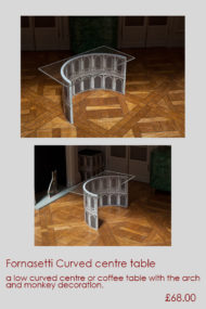 Fornasetti curved centre table