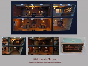 24th scale galleon roombox