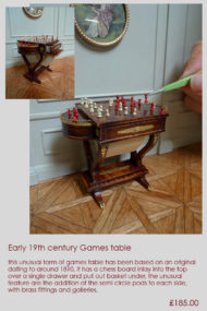 19 century regency games table chess pieces