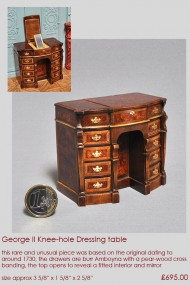 George II dressing table