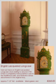 Lacquered Longcase Black Green red