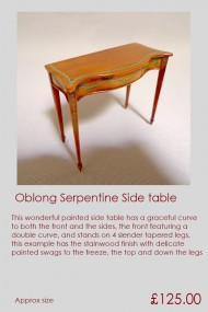 Oblong Serpentine Side Table
