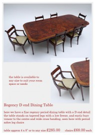 D end Dining Table
