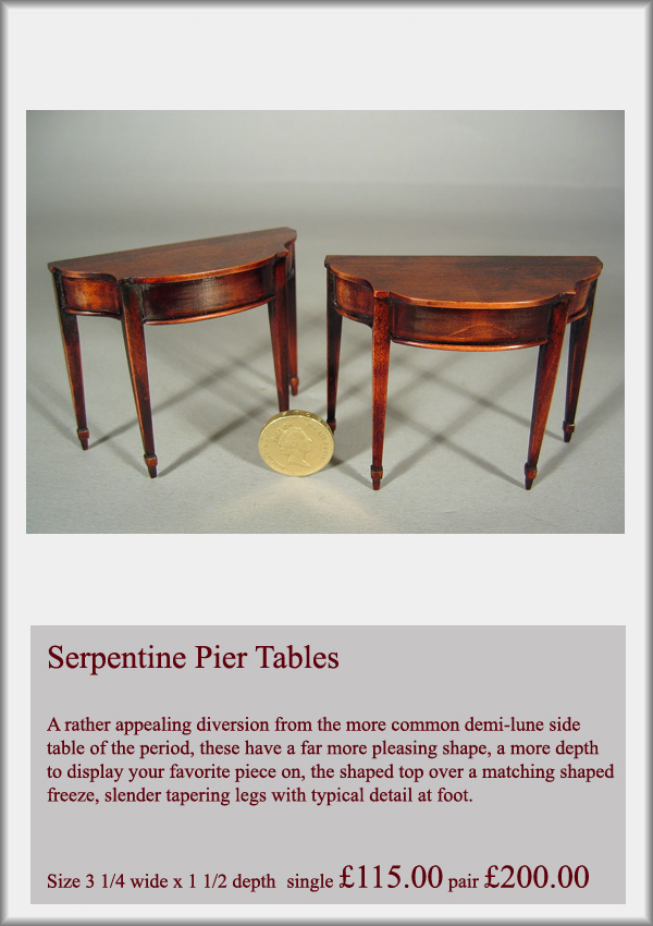 Serpentine Side tables