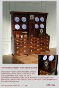 Yorkshire dresser with clock and drawers 18thc