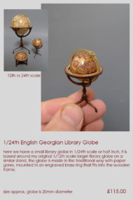 24th scale Library Globe