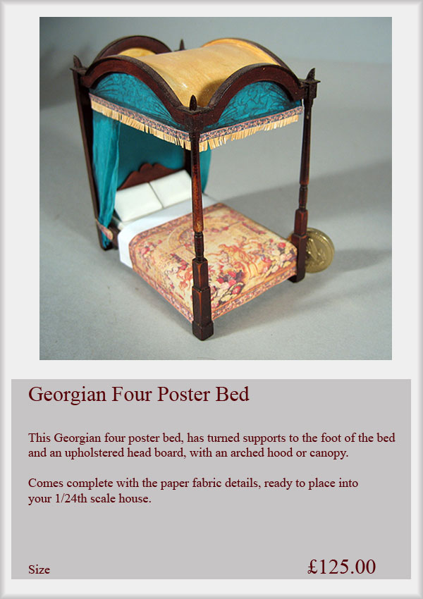 1 24th scale furniture small time miniatures for Small four poster bed