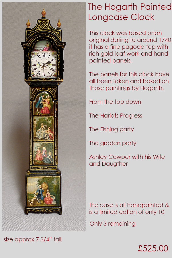 Small Time Galleries Showing 1 12th Scale Longcase Tall