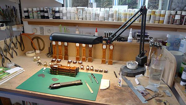 work bench patina